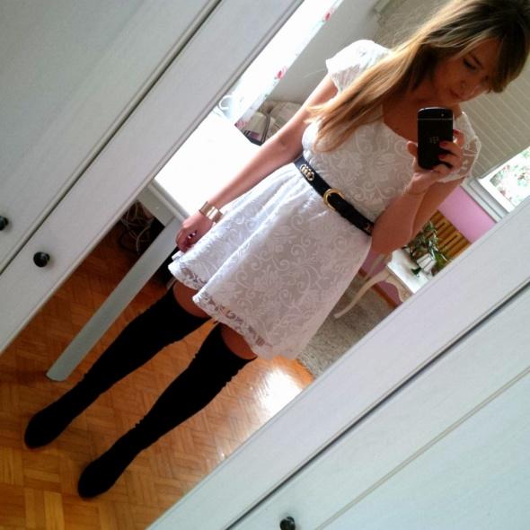 Mój styl Biała koronka