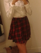 outfit zestaw koszula spódnica krata h&m asos