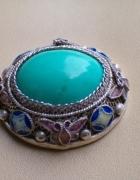 Opal cytryn turkus filigran i inne