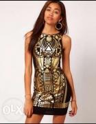 Sukienka AZTEC aztecka RIVER ISLAND XS S...