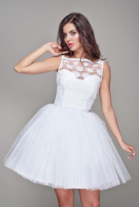 46f46379 Biała tiulowa sukienka w Ubrania - Szafa.pl