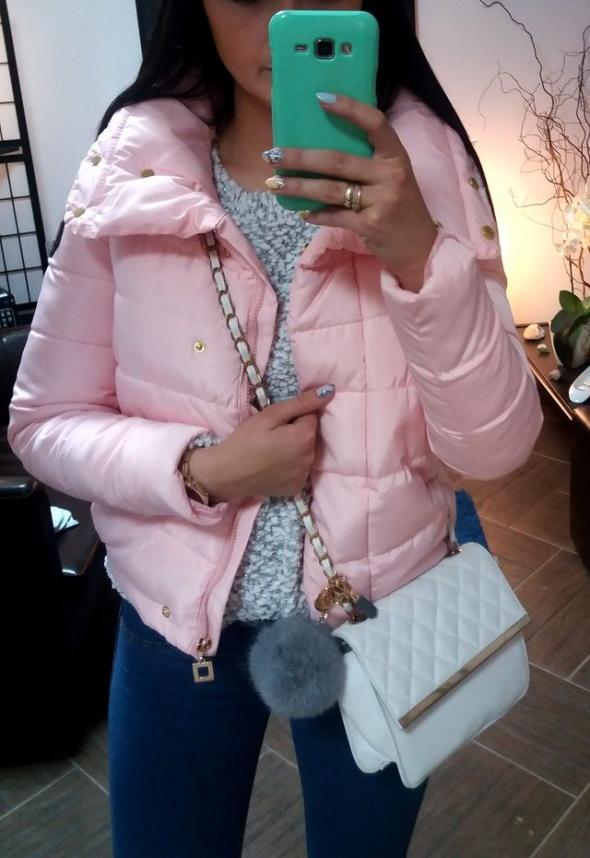Mój styl Pudrowa kurtka