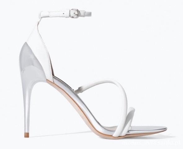 Zara buty szpilki sandały sandałki biale 37...