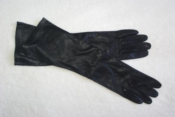 Rękawiczki Długie classy rękawiczki skórzane