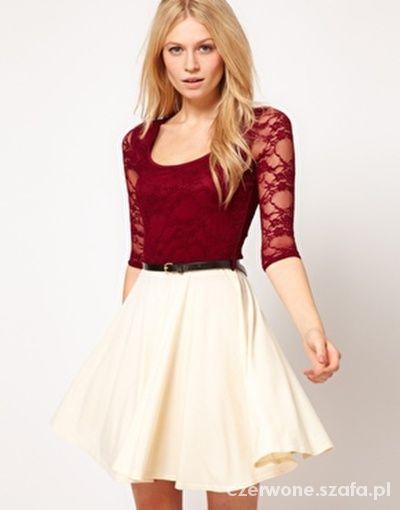 4637fd6fe1 ASOS PAPRIKA NOWA SUKIENKA BORDOWO KREMOWA w Suknie i sukienki ...