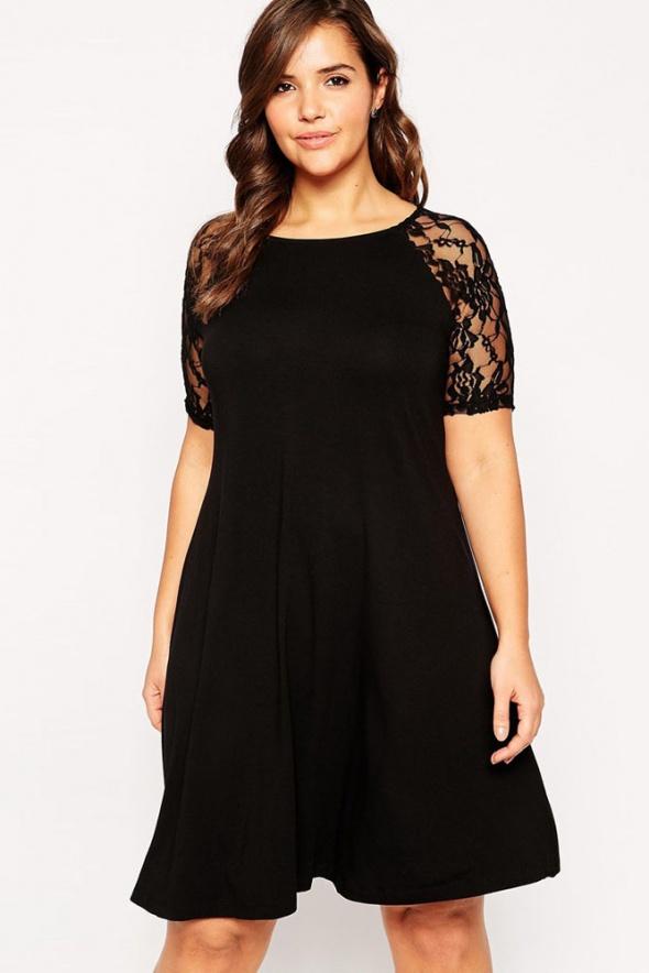 e13dab0eb65b08 trapezowa sukienka koronkowa PLUS SIZE 44 46 w Suknie i sukienki ...