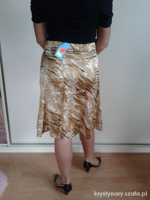 Spódnice brozowo żółta spódniczka