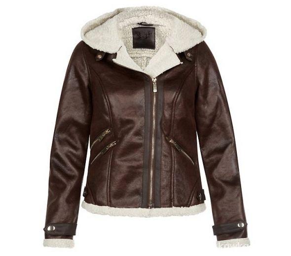Ubrania Kożuszek kurtka skórzana z kapturem NEW LOOK Kupię