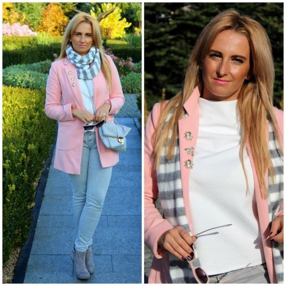 Blogerek Płaszczyk w kolorze pudrowego różu