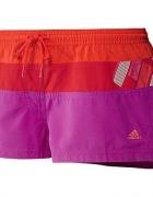 Szorty spodenki sportowe Adidas pomarańcz róż swim