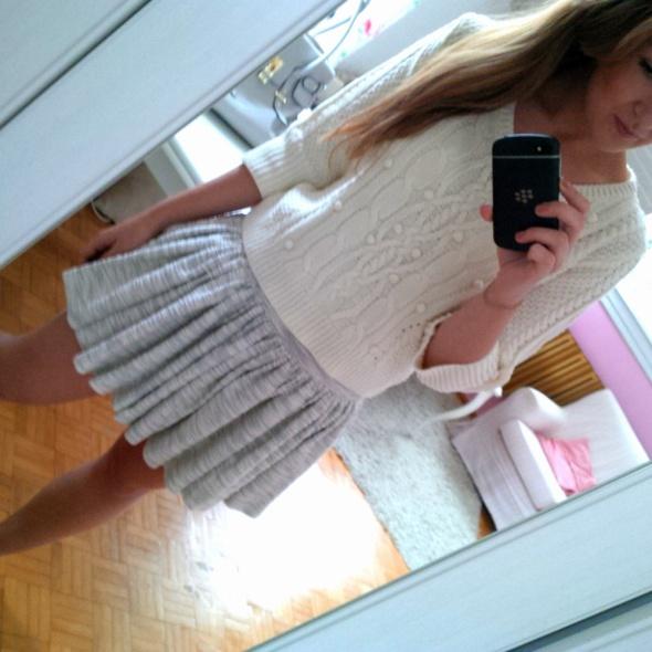 Mój styl Biało szaro jesiennie
