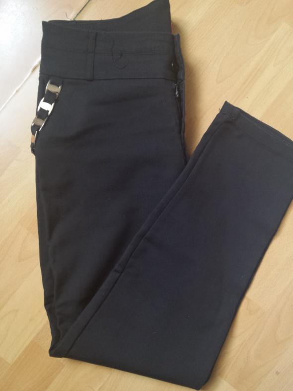 Czarne spodnie eleganckie Fressia Collection XL