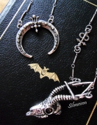 Gazelle skull necklace and Crescent pendant...