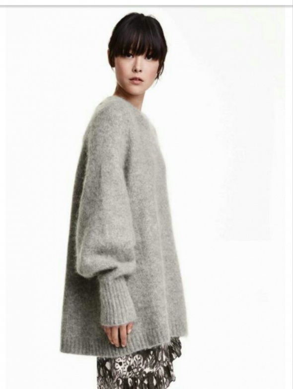 Sweter szary moher H&m trend...