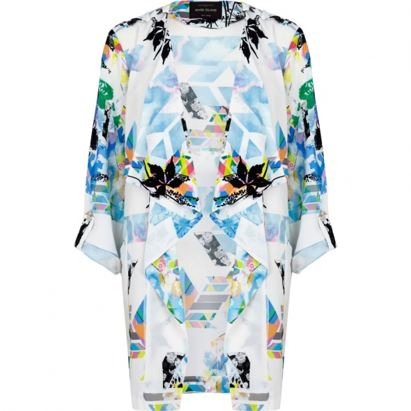 Ubrania River Island Multicolor Abstract Print Waterfall