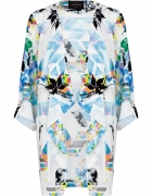 River Island Multicolor Abstract Print Waterfall...