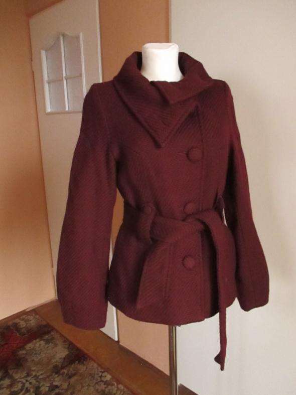 Płaszcz marki h&M bordowy śliczny ciepły