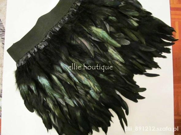 Spódnice spódnica z piór kogucich realne zdjęcie