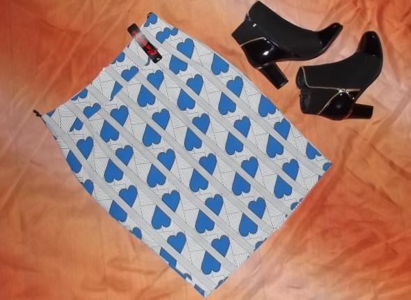 Spódnice CARMEN ołówkowa w serca paski spódnica NOWA 40 L