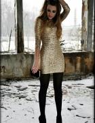Złoty look...