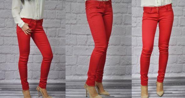 Spodnie MISS RJ rurki czerwone red XS do XL