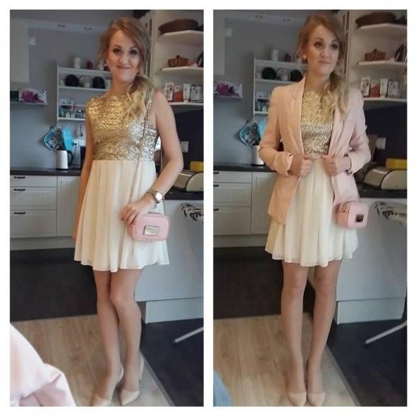 eeb6bbeb87 Piekna brokatowa sukienka tylko sprzedaz xs s m w Suknie i sukienki ...