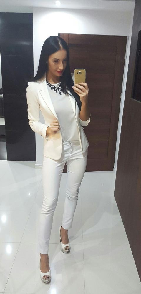 Eleganckie Biały garnitur