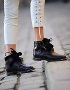 Yves Saint Laurent botki skóra naturalna