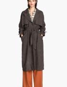 H&M Trend płaszcz lniany
