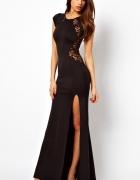długa suknia wieczorowa z koronką SYLWESTER 24h