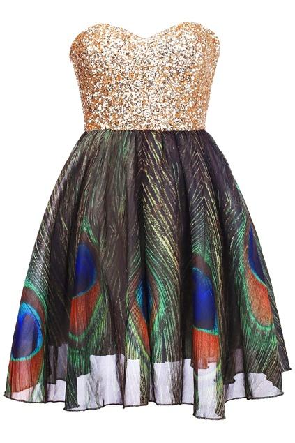 c2aed366dd sukienka w pawie pióra xs lub s w Ubrania - Szafa.pl
