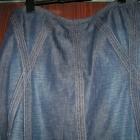 Efektowna spódnica z ciemnego jeansu