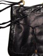 Czarna torba H&M złote okucia
