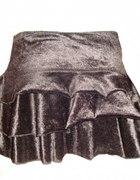 Czarna welurowa spódniczka H&M r 38