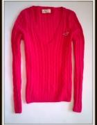 Hollister sweterek fuksja różowy S super stan