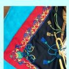 Chustka apaszka kolorowa z nutami