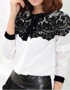 Bluzka biała z koronką xs nowa