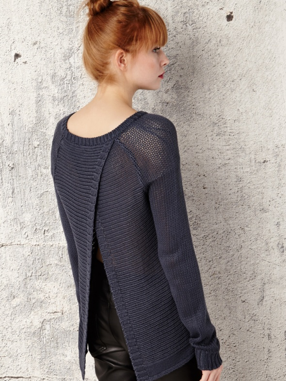 Sweter z rozcięciem na plecach HOUSE...