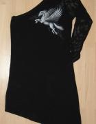 Sukienka asymetryczna goth Spiral M pegaz