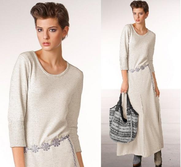 600c719b85 BONPRIX DŁUGA SUKIENKA MAXI DZIANINA WEŁNA XS S w Suknie i sukienki ...