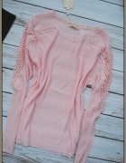 sweterek gipiura rekawy