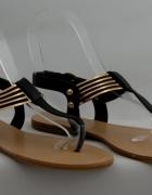 Czarne japonki sandałki