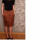Brązowa spódnica z kieszonkami GRATISY