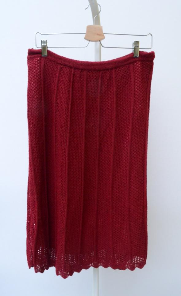 Spódnice Spódnica Czerwona Ażurowa M 38 Koronkowa