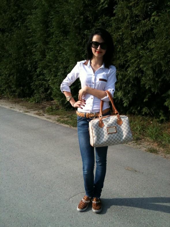 Blogerek Leopard outfit