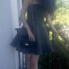 Piankowa szara sukienka