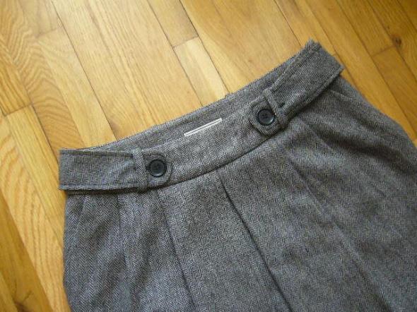 Spódnice Mango 38 ciepła spódniczka w jodełkę