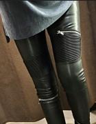 Spodnie skórzane z zameczkami...