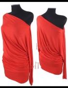 Sukienka Tunika Czerwien...