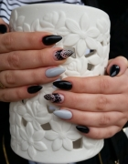 paznokcie manicure hybrydowy hybryda czerń